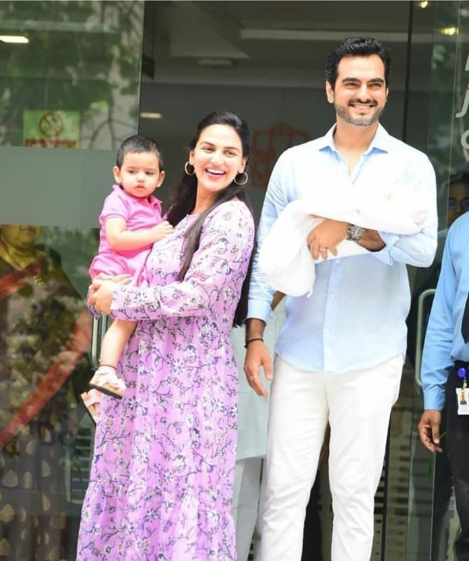 esha and bharat with kids