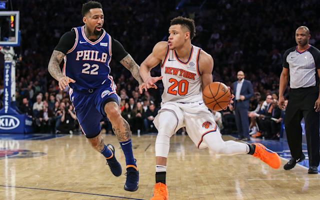 The New York Knicks' Kevin Knox - USA TODAY Sports