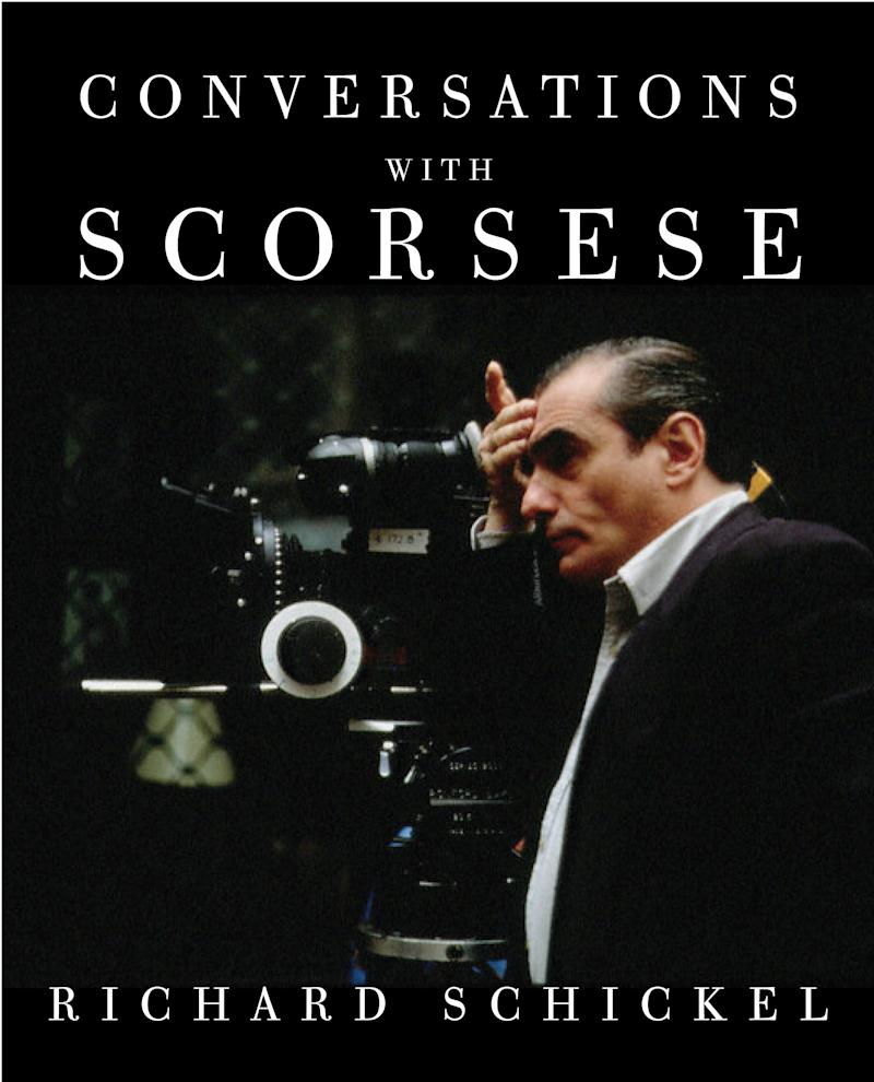 "In this book cover image released by Knopf, ""Conversations with Scorsese"", by Richard Schickel, is shown. (AP Photo/Knopf)"