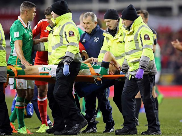 Seamus Coleman has undergone an operation on his broken right leg: Getty