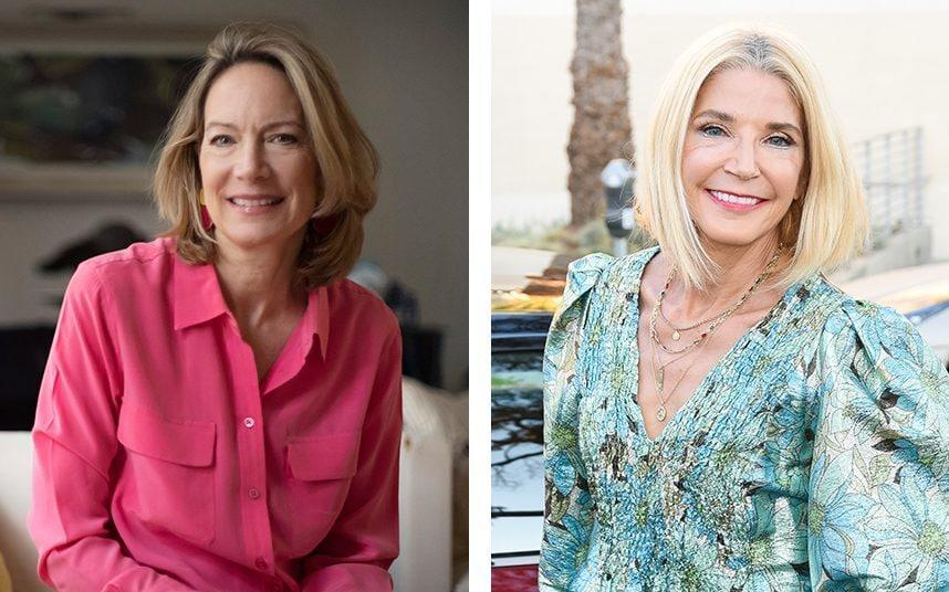 Helen Kirwan-Taylor (L) was friends with Candace Bushnell in the 80s - Telegraph/HBO