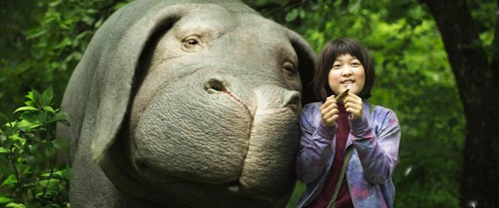 """<p>A young girl who has raised a hippo-like creature from infancy goes to great lengths to get her friend back after a conglomerate takes the animal to use as food. Environmentalism is the milieu, though not strictly speaking the message, in this quasi-comedy featuring director Bong Joon-ho's distinctive out-of-the-box style characters.</p> <p><a href=""""https://www.netflix.com/title/80091936"""" rel=""""nofollow noopener"""" target=""""_blank"""" data-ylk=""""slk:Available to stream on Netflix"""" class=""""link rapid-noclick-resp""""><em>Available to stream on Netflix</em></a></p>"""