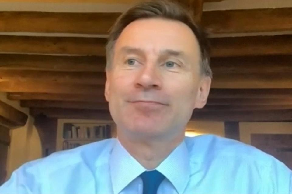 <p>Mr Hunt, MP for South West Surrey, told of the scale of the crisis facing the NHS, including at the Royal Surrey in Guildford.</p> (PA)