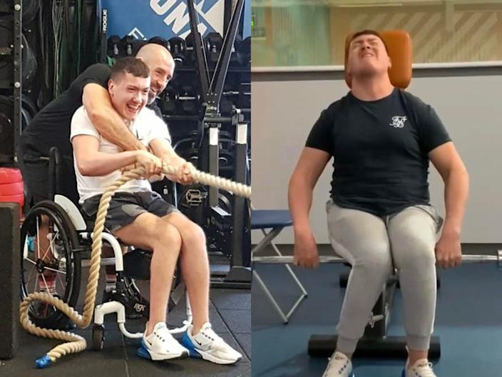 Jay Moir is a fitness instructor with cerebral palsy.
