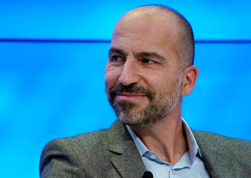 """Uber CEODara Khosrowshahi tweeted that Uber would take a closer look at its arbitration policy but has to """"take all of our constituents into consideration."""" (Denis Balibouse/Reuters)"""