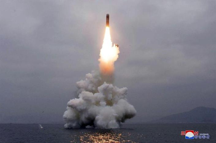 A North Korean missile test launched from the sea Oct 2 has stirred calls for strict enforcement of UN sanctions (AFP Photo/KCNA VIA KNS)
