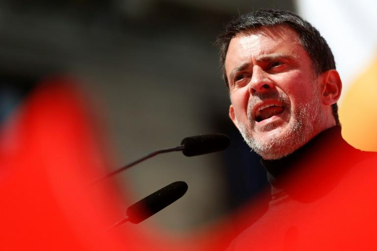 Former French prime minister Manuel Valls has campaigned in Barcelona against Catalan separatists