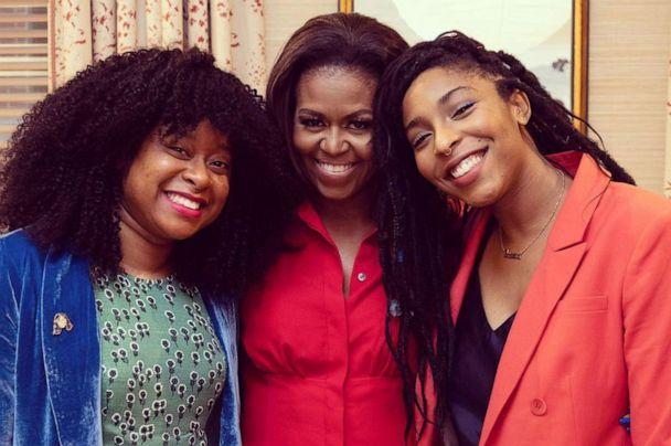 PHOTO: Phoebe Robinson and Jessica Williams interviewed Michelle Obama on '2 Dope Queens,' in 2018. (Courtesy Phoebe Robinson)