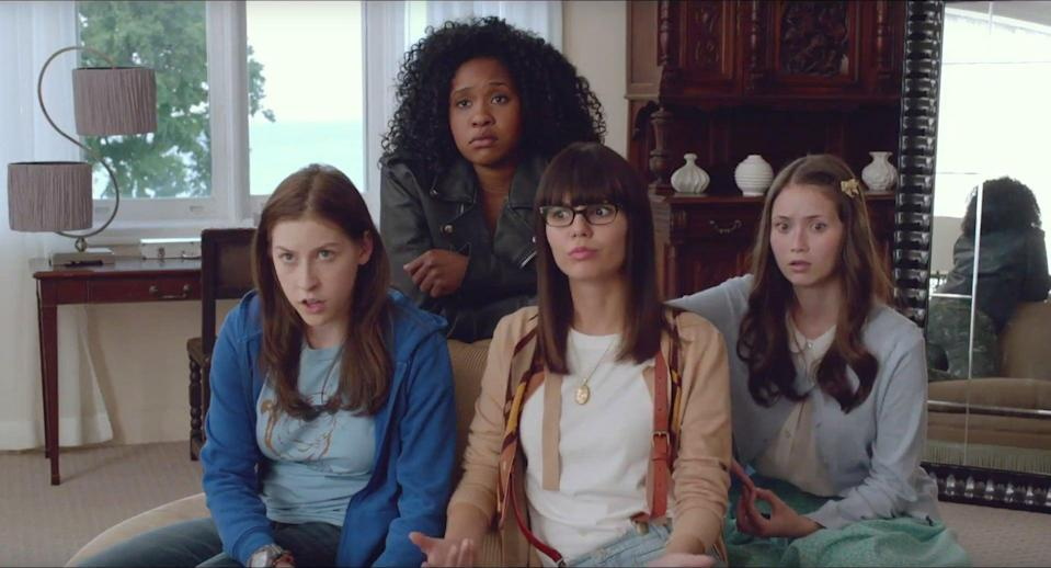 """<p>After falling victim to a prank pulled by their popular classmate, two nerdy girls vow to get revenge by starting a rebellion at their school. </p> <p>Watch <a href=""""https://www.netflix.com/title/80039439"""" class=""""link rapid-noclick-resp"""" rel=""""nofollow noopener"""" target=""""_blank"""" data-ylk=""""slk:The Outcasts""""><strong>The Outcasts</strong></a> on Netflix now.</p>"""