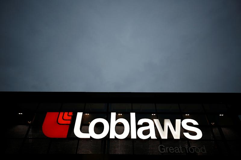 A sign is pictured outside a Loblaw supermarket in Ottawa, Ontario, Canada, November 14, 2017. REUTERS/Chris Wattie