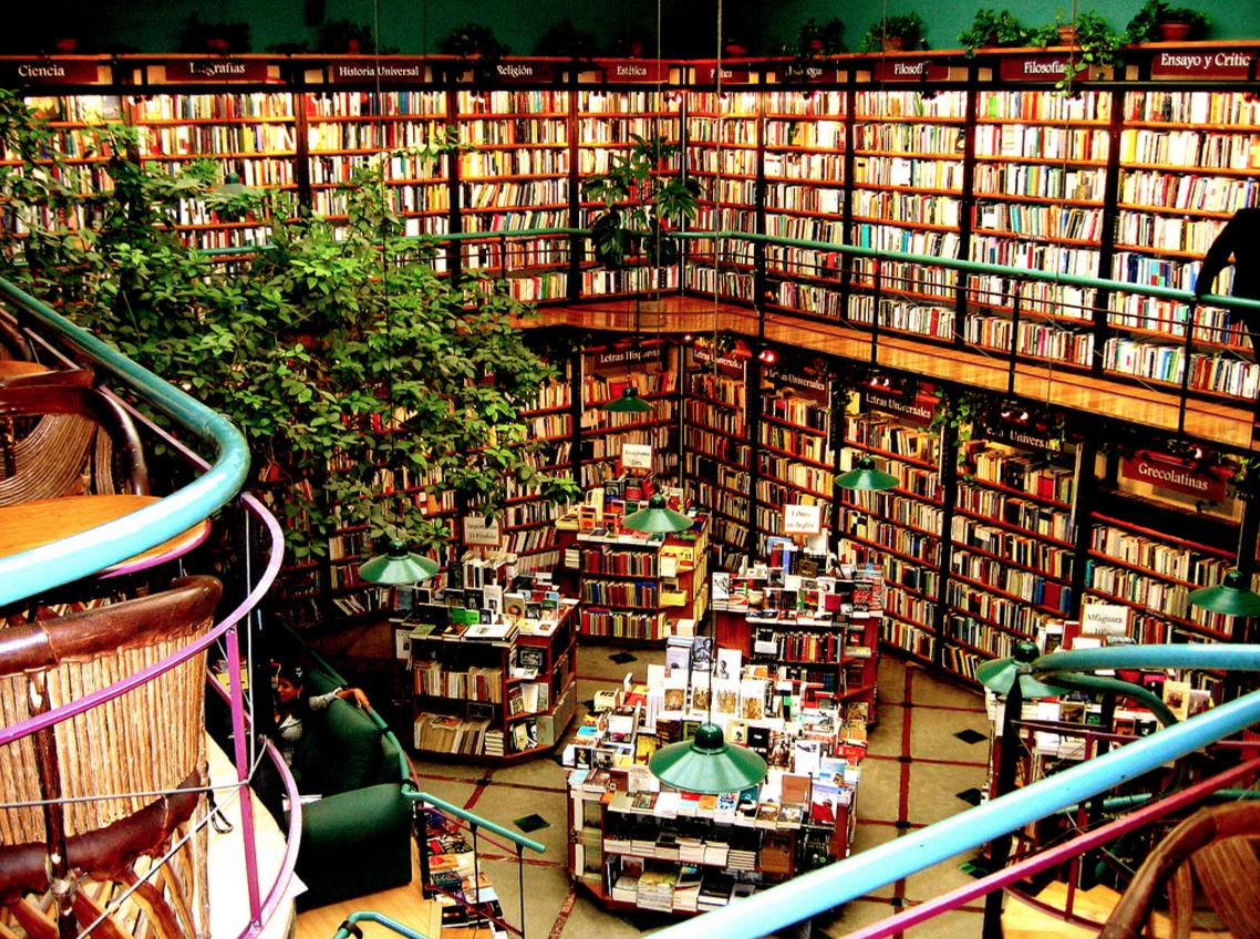"""<p>This nature adorned haven is more than just a bookshop. Visitors can sip on a mojito, catch some live music or comedy and when you're done, retrieve your car from the valet parking service.</p><p><i>[Photo: <a href=""""https://www.flickr.com/photos/mrpompiers/"""" title=""""Go to J. Moran's photostream"""">J. Moran</a>/Flickr]</i></p>"""