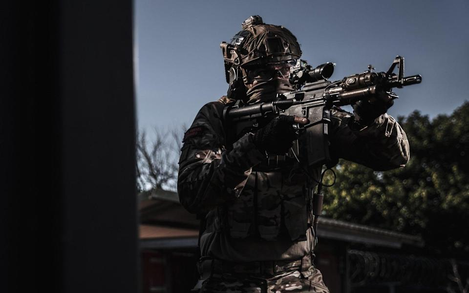 The Royal Marines, which have just been given a new uniform, face cuts to their artillery capability - Ministry of Defence
