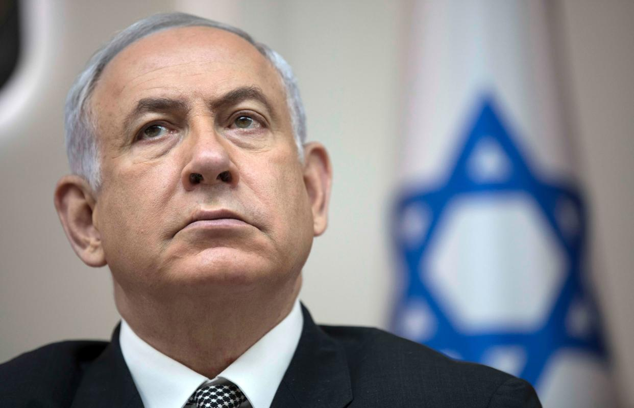 Israeli Prime Minister Benjamin Netanyahu attends the weekly Cabinet meeting at his office in Jerusalem on Sept. 3, 2017. (Photo: Abir Sultan/AFP/Getty Images)