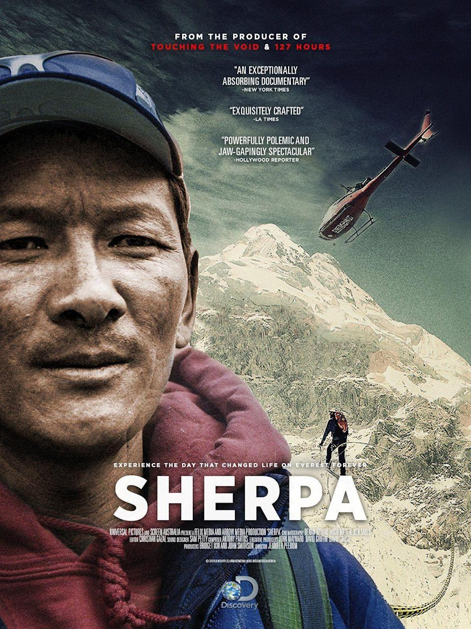 """<p>Climbers have attempted to ascend Mount Everest (at times, on the literal backs of local Sherpas) for almost one hundred years. The British made the first attempt in 1922, but the expedition ended fatally for seven Sherpa climbers. It wasn't until 1953 that the first climbers reached the summit—Englishman Edmund Hillary and Nepali Sherpa Tenzing Norgay. Hillary and expedition leader John Hunt were immediately knighted on their return to England. Norgay, who had nearly reached the summit the previous year with a Swiss team, was not.</p><p>Since the first attempt in 1922, <a href=""""https://outdoorinquirer.com/mount-everest-deaths/"""" rel=""""nofollow noopener"""" target=""""_blank"""" data-ylk=""""slk:over 300 people have died"""" class=""""link rapid-noclick-resp"""">over 300 people have died</a> attempting to summit. It is estimated that <a href=""""https://www.npr.org/sections/parallels/2018/04/14/599417489/one-third-of-everest-deaths-are-sherpa-climbers"""" rel=""""nofollow noopener"""" target=""""_blank"""" data-ylk=""""slk:nearly a third of all fatalities are local Sherpas"""" class=""""link rapid-noclick-resp"""">nearly a third of all fatalities are local Sherpas</a>, with Americans, who represent the majority nationality of Everest climbers, accounting for thirteen deaths. In recent years, the heroic glory of the climb has been reframed, and those """"solo"""" adventurers risking all to conquer nature have been shown to owe much of their success to Sherpa labor. </p><p>Film has likewise adjusted its portrayal of Everest ascents, with recent documentaries like <em>Sherpa </em>exploring instead the burden on Nepalese communities who rely on the climb—maybe the most dangerous job on earth—for their family income. The climbers, well, let's just say they are no longer the heroes of this story. </p><p>Still, the ascent, for all its social and political inequities, continues to represent one of the major feats of human achievement. Here are the top movies about Everest, representing mankind's best, worst, and most exploitativ"""