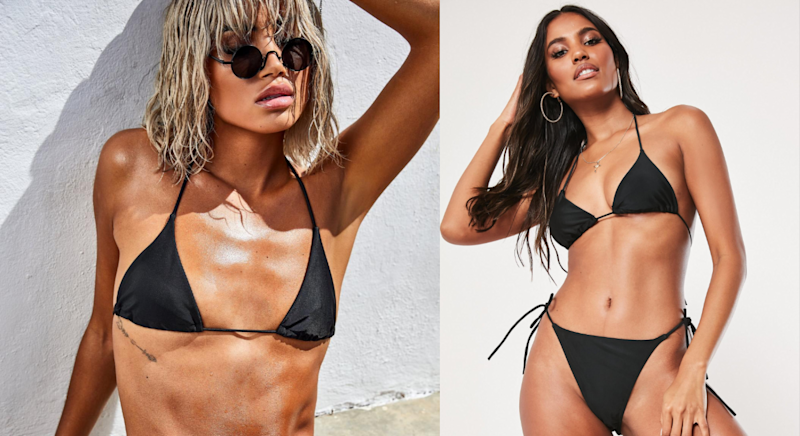 "The bikini, which sold out quickly, has been slammed for being ""unsustainable"". [Photo: Missguided]"