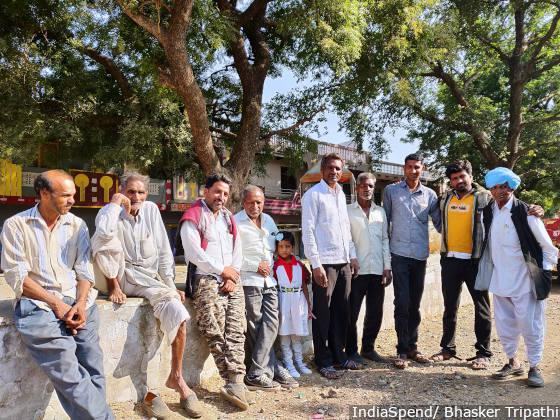 A group of farmers gathered in a courtyard in Budha village in Mandsaur district of Madhya Pradesh. The courtyard was the epicenter of farm protests in 2017.