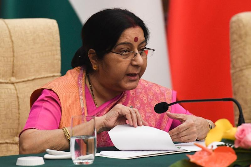 Foreign Minister Sushma Swaraj says India won't be dictated
