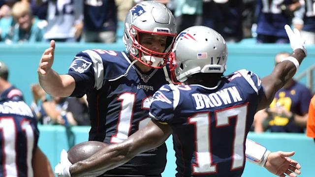 Antonio Brown sent a series of tweets following the New England Patriots' elimination from the NFL playoffs.