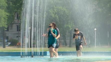 A heat wave continues to scorch Canada from Manitoba to Quebec