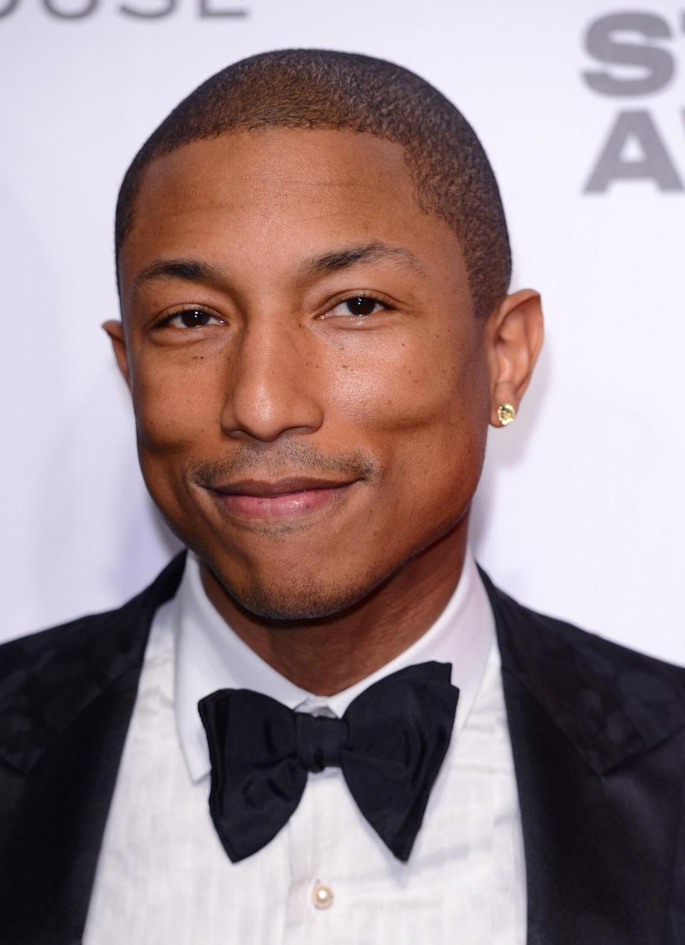 <p>Pharrell Williams still looks fly, with less hair though. <i>(Photo: Getty Images)</i></p>