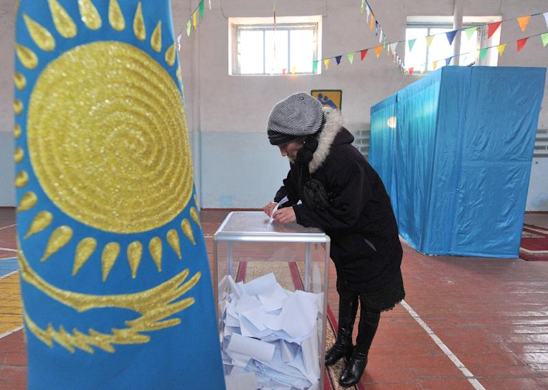 Kazakhs go to the polls on Sunday to elect their first new leader in 30 years (AFP Photo/VYACHESLAV OSELEDKO)