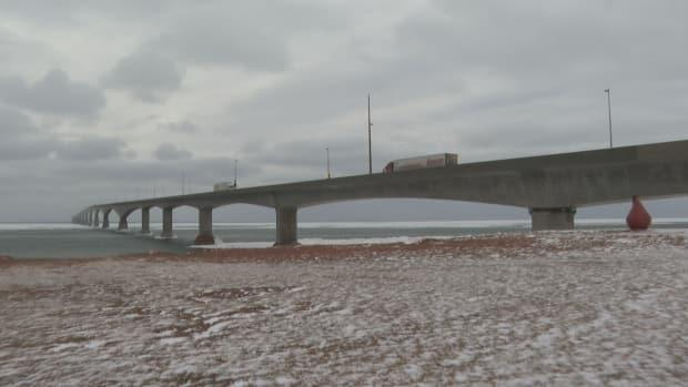 Most of the traffic on the Confederation Bridge these days is essential workers, such as trucks carrying supplies to and from P.E.I.