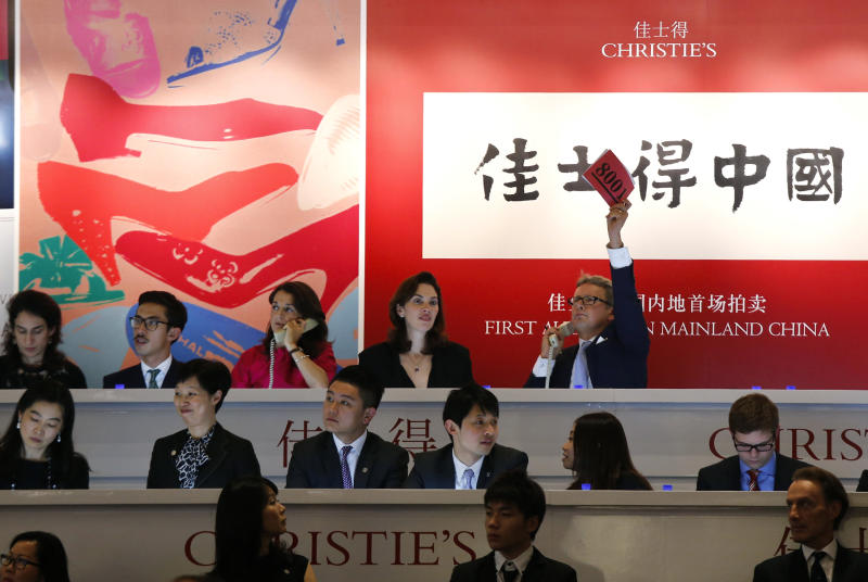 Christie's Shanghai auction offers Picasso, Warhol