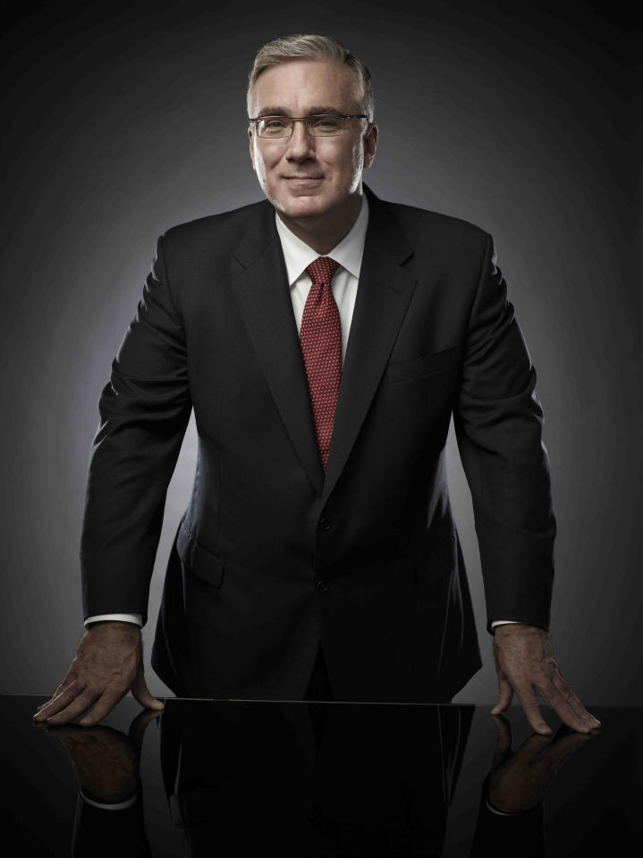 """In this undated photo released by Cuttent TV, commentator Keith Olbermann is shown. Olbermann's new show, Countdown With Keith Olbermann"""" on Current TV premieres on Monday, June 20, 2011. (AP Photo/Current TV, Justin Stephens)"""