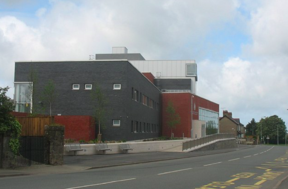 Richard Wood did not attend Caernarfon Magistrates Court (pictured) and pleaded guilty by post to landing at and departing from RAF Valley without permission. (Wikipedia)