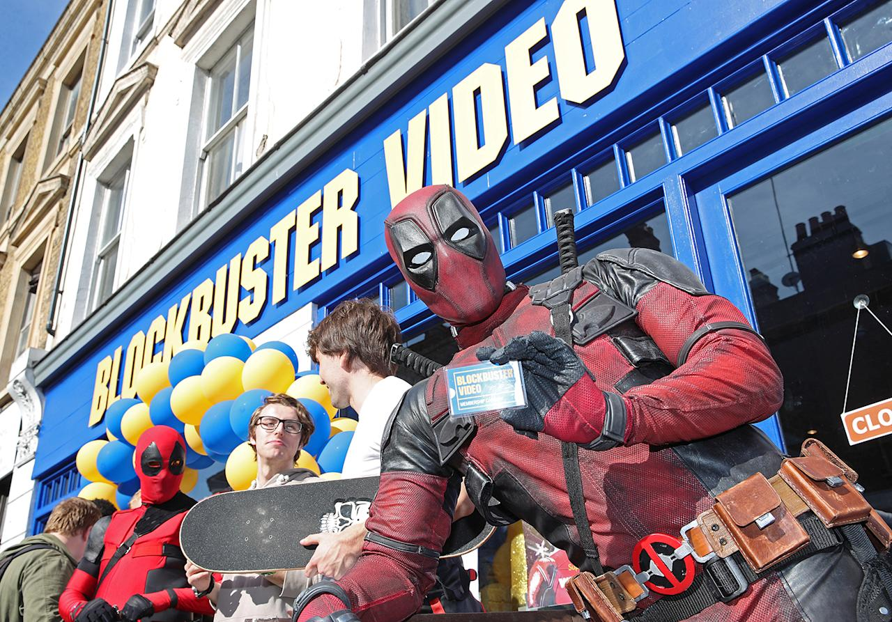 <p>Deadpool still has his Blockbuster Video membership card – do you? (20th Century Fox) </p>