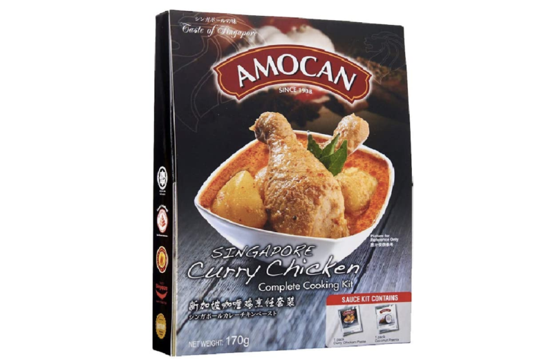 Amocan Singapore Curry Chicken complete cooking kit, 170g, S$4.80. PHOTO: Amazon