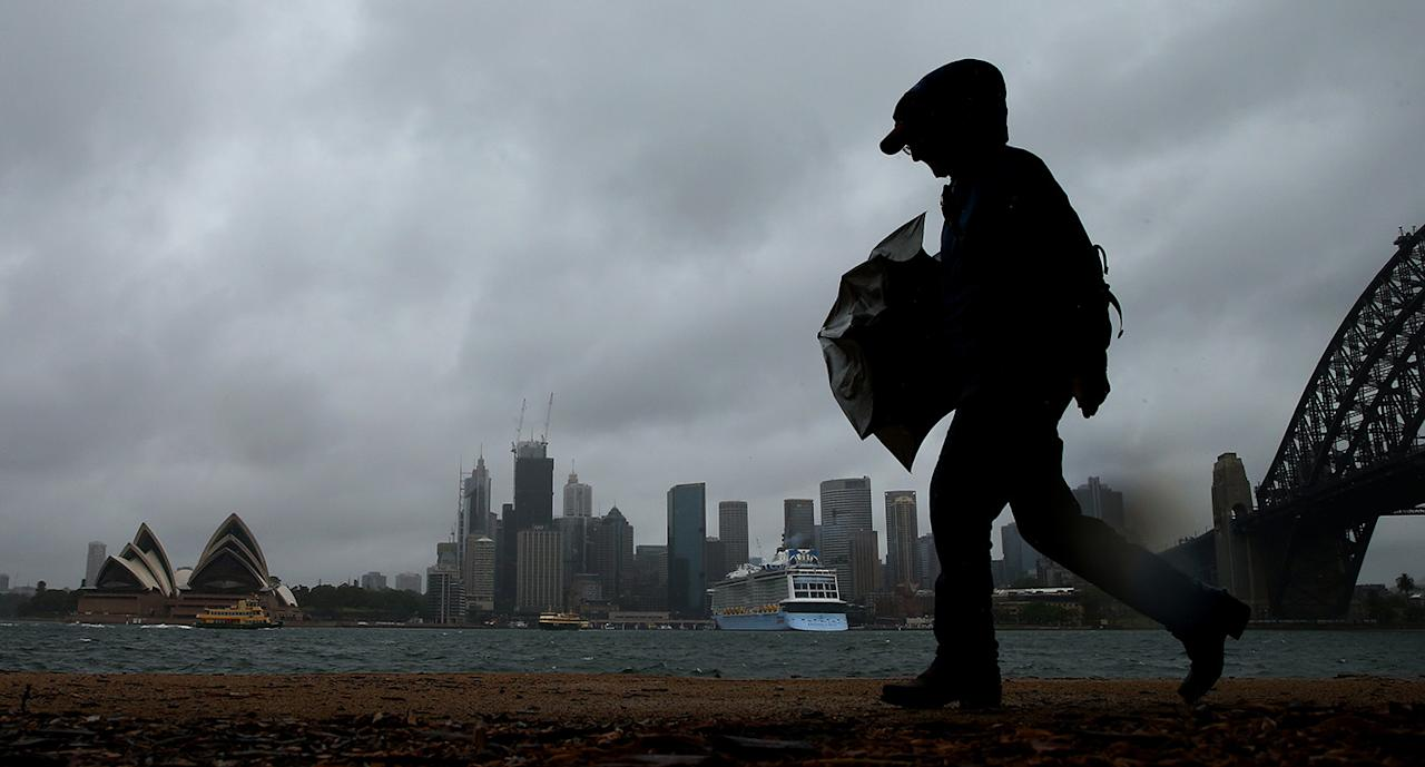 <p>Dramatic photos show the destruction wreaked by a massive storm which hit Sydney on Wednesday.. Image: Getty </p>