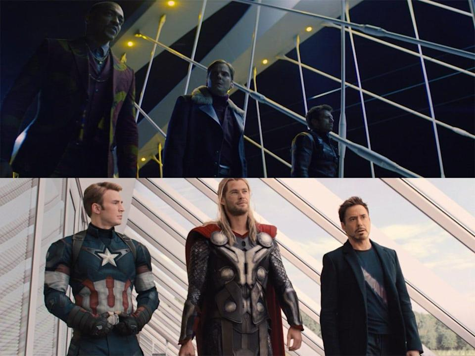 the falcon and the winter soldier 103 detail trio age of ultron