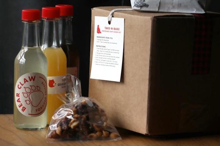 Lazy Bear restaurant has bottled cocktails, packaged food, as well as takeout seen on Thursday, April 9, 2020, in San Francisco, Calif. (Photo By Liz Hafalia/The San Francisco Chronicle via Getty Images)