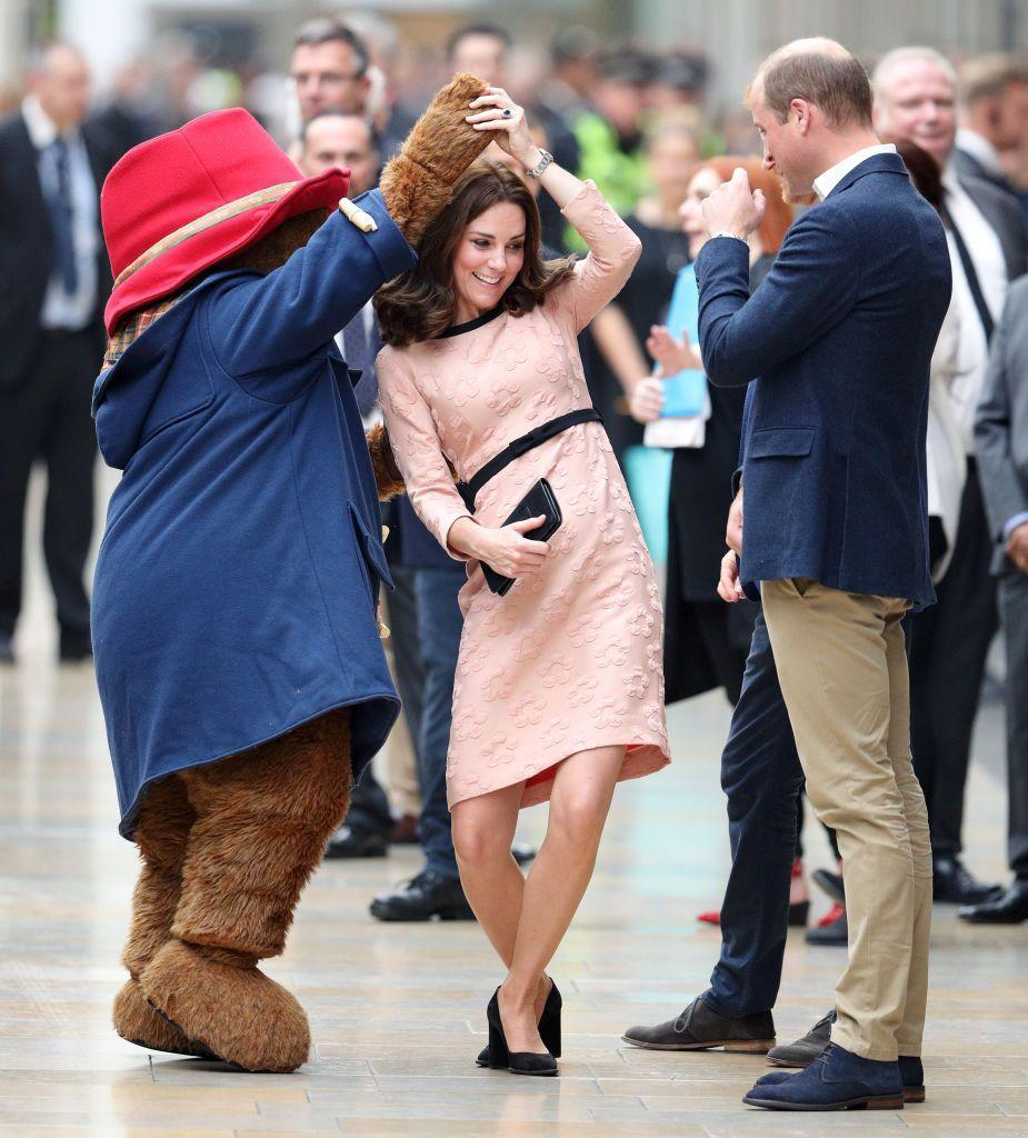 <p>Fancy a dance Duchess? It isn't every day that you spot a royal doing the waltz with a life-size Paddington Bear. Nevertheless, we were treated to this moment during an engagement in 2017. </p>