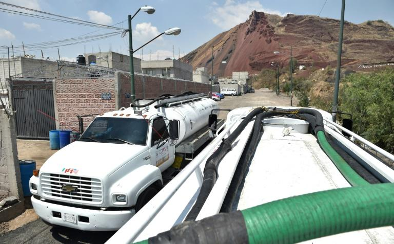 Tanker trucks, which started as an emergency solution, have become a daily supply source of water in many parts of Mexico City