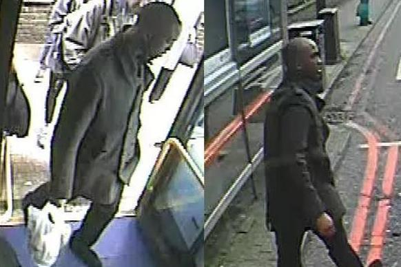 Hunt: Police want to trace this man over the attack: Met Police