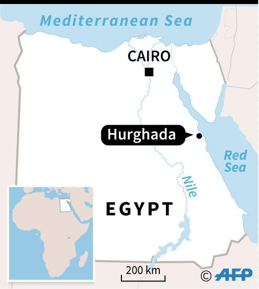Map of Egypt locating Hurghada in Egypt (AFP Photo/AFP)