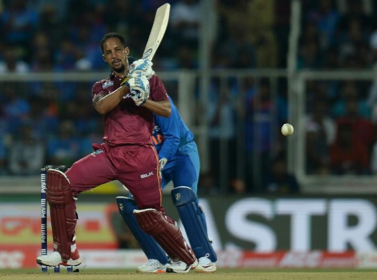 In a hurry: West Indies' Lendl Simmons