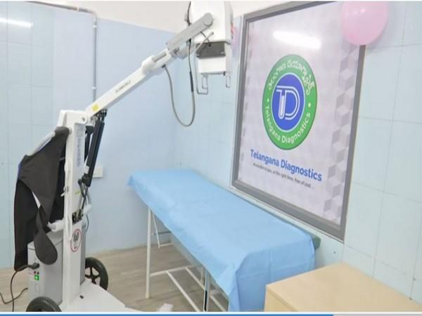 Inside visual of a mini hub set up to provide basic diagnostic facilities free of cost to the poor in Telangana.