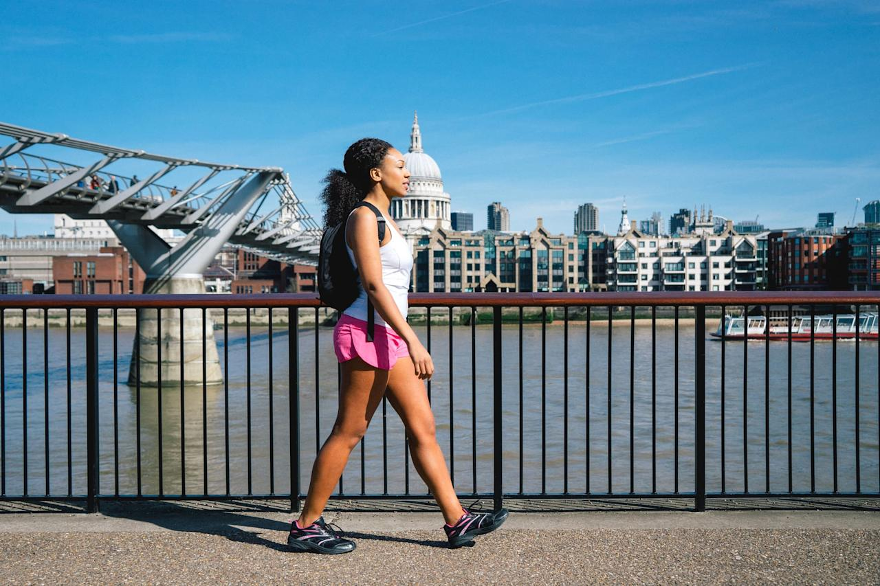 """<p>If you're walking every day and not seeing results, <a href=""""https://www.popsugar.com/fitness/How-Many-Calories-I-Burn-Walking-45563179"""" class=""""ga-track"""" data-ga-category=""""Related"""" data-ga-label=""""https://www.popsugar.com/fitness/How-Many-Calories-I-Burn-Walking-45563179"""" data-ga-action=""""In-Line Links"""">you're not burning enough calories</a> on your walks to put you in to a caloric deficit, explained NASM-certified trainer and physical therapist Molly Canu. While many experts say to walk <a href=""""https://www.popsugar.com/fitness/How-Many-Steps-Day-Lose-Weight-44886091"""" class=""""ga-track"""" data-ga-category=""""Related"""" data-ga-label=""""https://www.popsugar.com/fitness/How-Many-Steps-Day-Lose-Weight-44886091"""" data-ga-action=""""In-Line Links"""">30 minutes a day, that's only about 3,000 to 5,000 steps</a>, depending on how fast you walk. </p> <p>NASM-certified trainer Jennifer Giamo said, """"I usually recommend that clients get in at least <a href=""""https://www.popsugar.com/fitness/How-Much-Weight-Can-I-Lose-Walking-5-Miles-Day-45600990"""" class=""""ga-track"""" data-ga-category=""""Related"""" data-ga-label=""""https://www.popsugar.com/fitness/How-Much-Weight-Can-I-Lose-Walking-5-Miles-Day-45600990"""" data-ga-action=""""In-Line Links"""">10,000 steps per day</a>, (about five miles) but of course if possible, more is always better!"""" Canu said you can push that number higher and aim for 12,000 steps a day.</p>"""