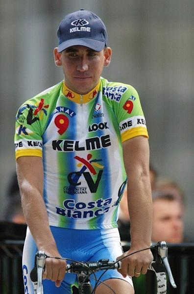 Spanish cyclist Jesus Manzano looks on during an opening ceremony for the Tour de France, on July 4, 2003. The now-retired Manzano is scheduled to testify on February 11. A doctor accused of masterminding a vast doping network that rocked the sporting world and snared top cyclists has gone on trial in Spain, along with four alleged conspirators