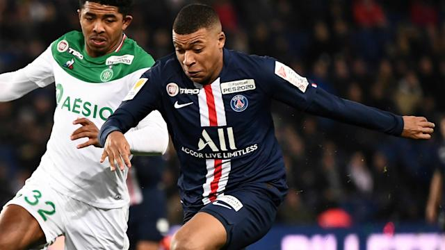 Kylian Mbappe was asked about his future following Paris Saint-Germain's Coupe de la Ligue rout of Saint-Etienne on Wednesday.