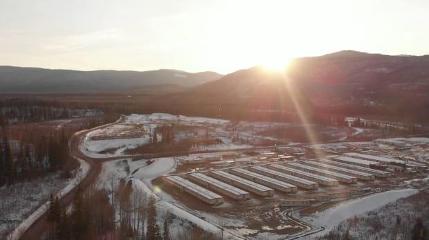 A B.C. judge has upheld an extension of the environmental assessment certificate  for the Coastal GasLink pipeline. Pictured is Coastal GasLink's camp near Chetwynd built to house 700 workers who will help build the pipeline across northern B.C (Coastal GasLink/Contributed  - image credit)