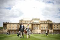The Garden of Buckingham Palace, during a preview day before it opens to the public, in London