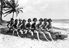 Young women at Miami Beach, Florida