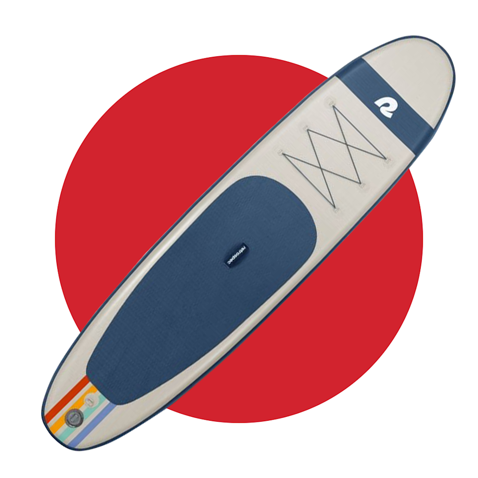 """<p>retrospec.com</p><p><strong>$349.99</strong></p><p><a href=""""https://retrospec.com/collections/inflatable-sup/products/weekender-10-inflatable-stand-up-paddleboard"""" rel=""""nofollow noopener"""" target=""""_blank"""" data-ylk=""""slk:BUY IT HERE"""" class=""""link rapid-noclick-resp"""">BUY IT HERE</a></p><p>Outfitting your car with a rack to fit a stand-up paddleboard will be a thing of the past now that you have an inflatable option that'll fold up nicely into a carrying bag. Complete with all the paddleboard essentials (fins, a paddle, a leash and more), Retrospec's option will feel just like its solid peers without taking up the extra space.</p>"""
