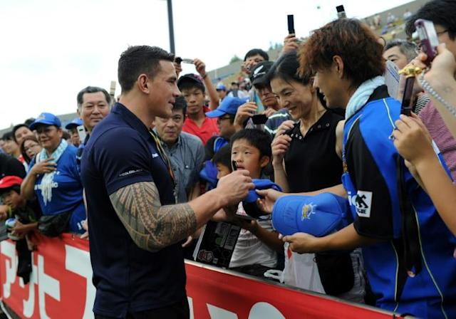 Sonny Bill Williams is available for selection, despite rumours to the contrary (AFP Photo/Toshifumi KITAMURA)