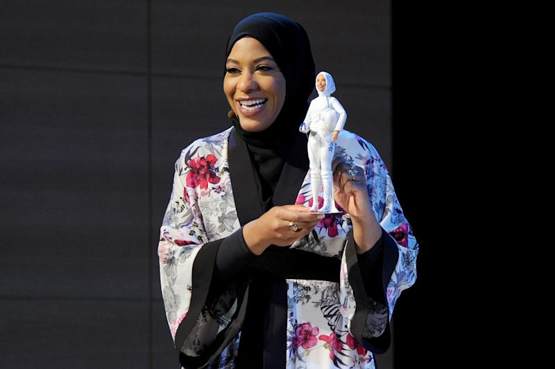 The new hijab-wearing Barbie, based on Olympic Medalist Ibtihaj Muhammad, was revealed on Monday: Getty Images