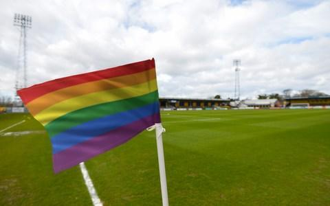 <span>Russian FA's equality officer Alexei Smertin advised there would be no ban on rainbow colours </span> <span>Credit: EFL Rainbow </span>